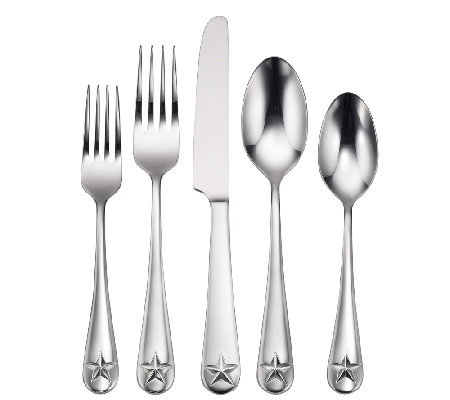 Oneida Tindra Mirror Finish 45-Piece Flatware Set