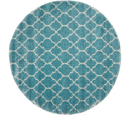 "Nourison Amore 3'11"" x 3'11"" Moroccan Shag Round Rug"