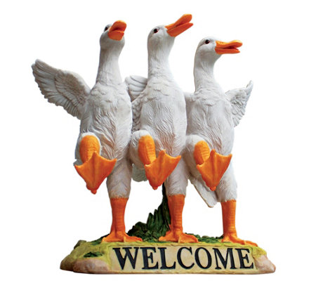 Design Toscano Delightful Dancing Ducks Welcomesign