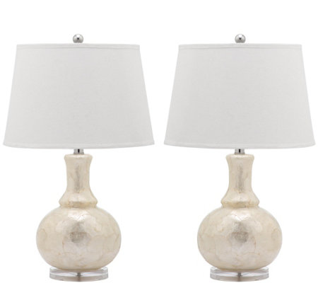 Safavieh Set of 2 Shelley Gourd Table Lamps