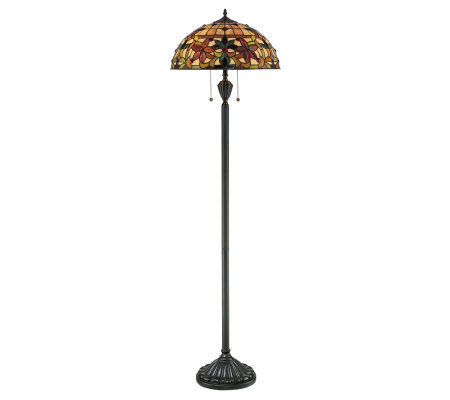 "Tiffany Style Kami Collection 62"" Floor Lamp"