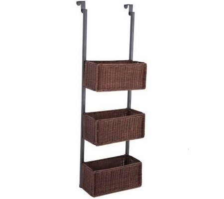 Delilah Over-the-Door 3-Tier Basket Storage