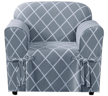 Sure Fit Lattice Chair Slipcover