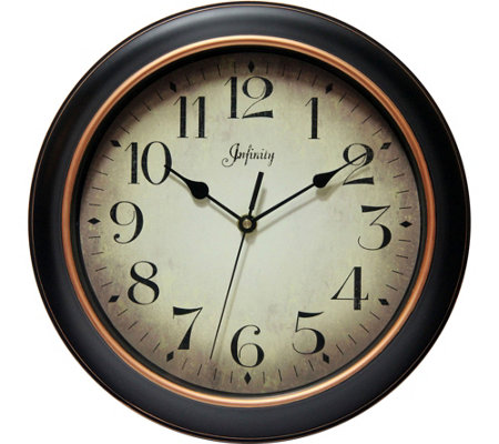 "Precedent 12"" Round Wall Clock by Infinity"