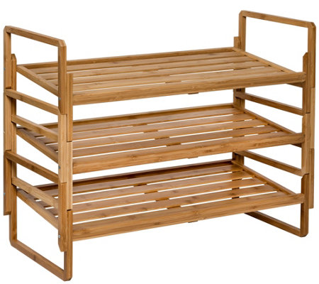 Honey Can Do 3 Tier Nested Bamboo Shoe Rack