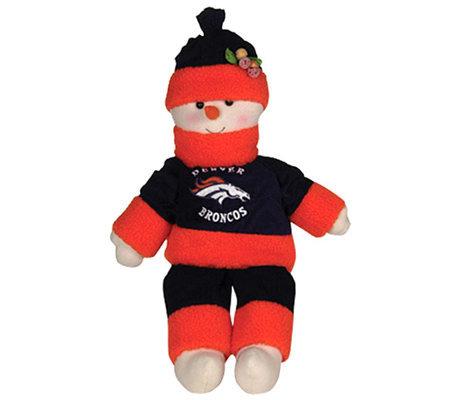 Nfl Denver Broncos 22 Inch Plush Snowman Qvc Com