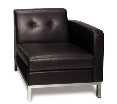 Avenue Six Wall Street Single Arm Chair Right Arm Facing