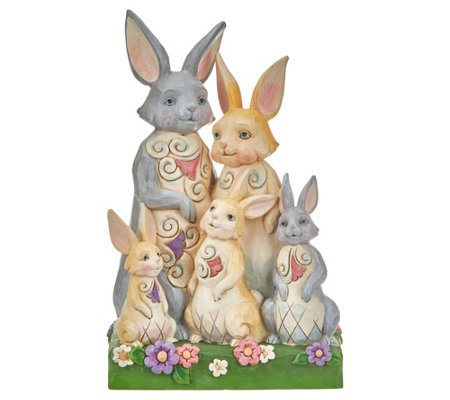 Jim Shore Heartwood Creek Easter Bunny Family Figurine