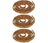 Set of (3) 9' Spiral Glitter Ribbons by Valerie - H218221