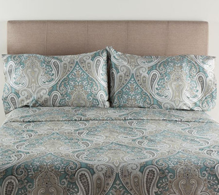 100% Cotton Crystal Palace Queen Sheet Set