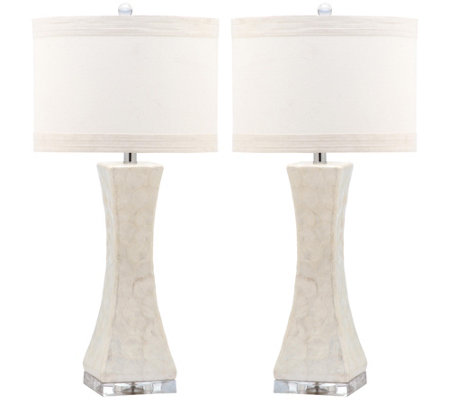 Safavieh Set of 2 Shelley Concave Table Lamps