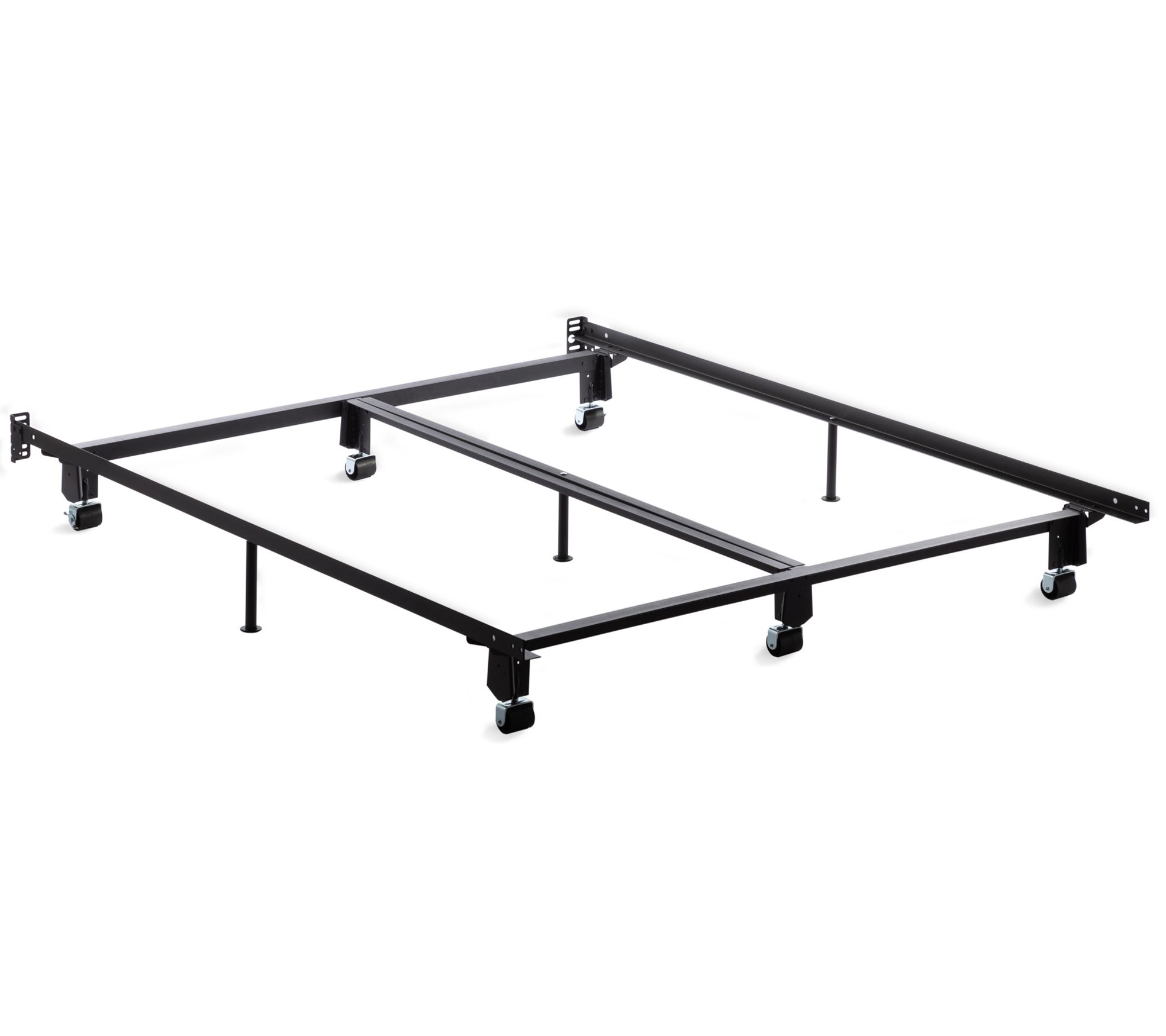 Brookside Steel Metal Bed Frame With Rug Rollers Cal King Qvc Com