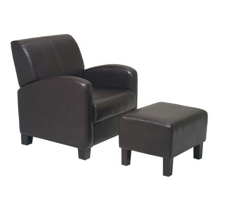 Chair with Ottoman by Office Star