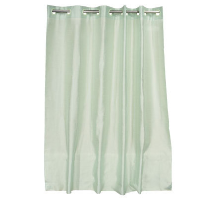 Hookless Faux Silk Water Repellent Shower Curtain Page 1 Qvc Com