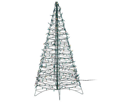 Pre Lit 5 Fold Flat Outdoor Christmas Tree By Lori Greiner Qvc Com