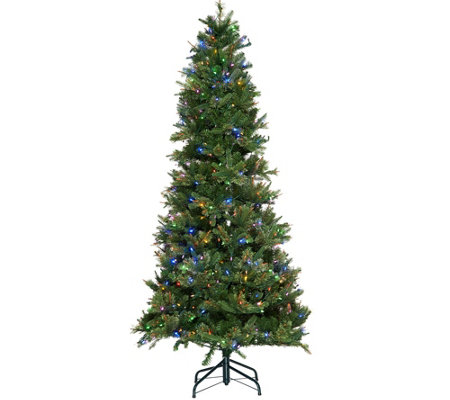 """As Is"" ED On Air Santa's Best 6.5' Bristol Pine Mix Tree"
