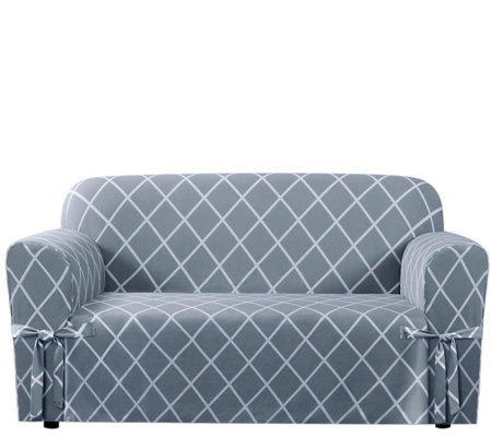Sure Fit Lattice Love Seat Slipcover