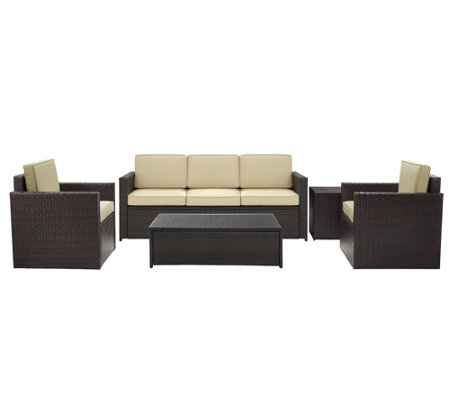 Palm Harbor 5-Piece Outdoor Wicker Sofa Conversation Set
