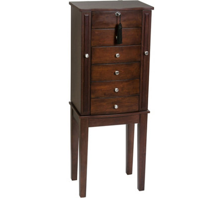 Mele & Co. Westfield Wooden Jewelry Armoire inWalnut Finish