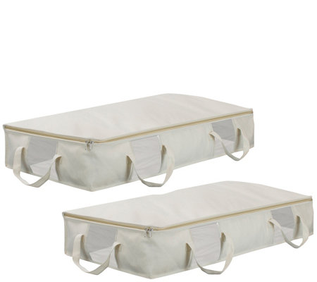 Sorbus Two Pack Underbed Organizer Bags