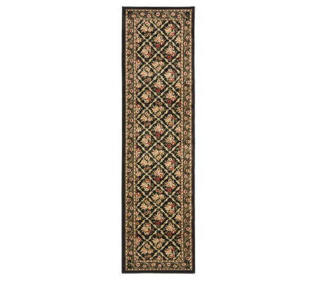 "Lyndhurst Floral Lattice Power Loomed 2'3"" x 8'Runner"