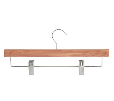 Honey-Can-Do 8-Pack Cedar Skirt/Pants Hangers with Clips