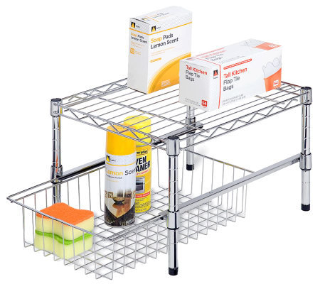 Honey-Can-Do Adjustable Shelf with Under-Cabinet Organizer