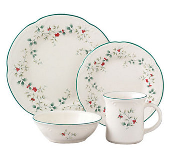 Pfaltzgraff Winterberry 16pc Dinnerware Set - H184423  sc 1 st  QVC.com & Pfaltzgraff \u2014 Kitchen \u0026 Food \u2014 QVC.com