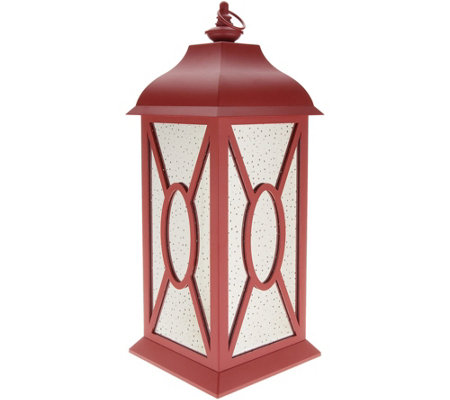 22 Illuminated Indoor Outdoor Vintage Mercury Glass Lantern By Valerie