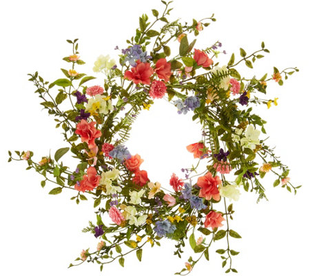 """As Is"" 22"" Wildflower Blossom Wreath by Valerie"
