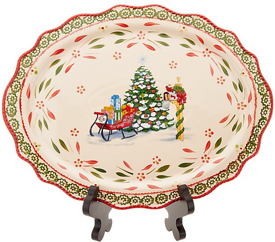 Temp-tations Limited Edition Holiday Oval Platter