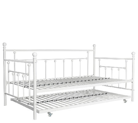 Signature Sleep Manila Twin Daybed Frame with Twin Trundle