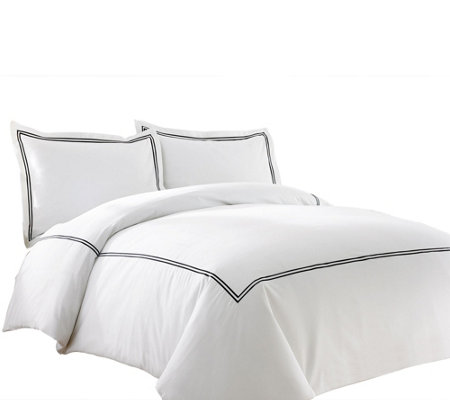Pacific Coast Textiles 600TC QN 3-Piece DoubleBand Duvet Set