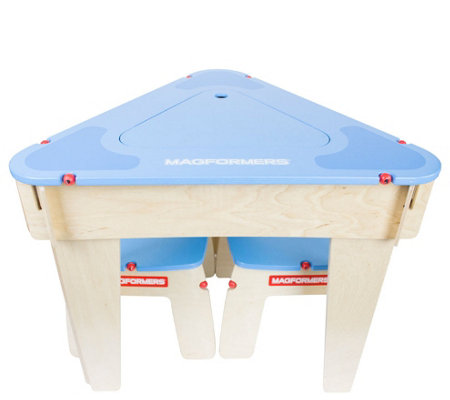Magformers Triangle Wood Play Table Set