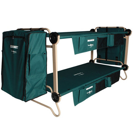 Disc O Bed Xl Cam O Bunk W Organizers Cabinets Extensions Qvc Com