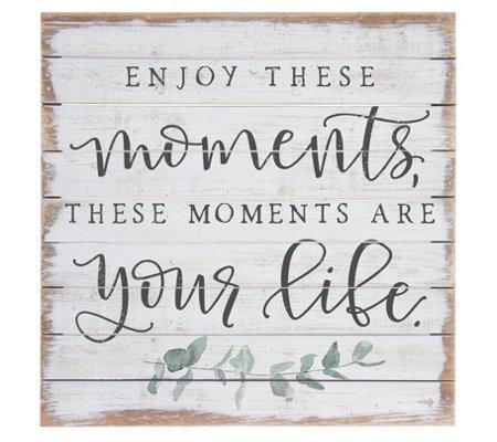 Enjoy These Moments Wall Art