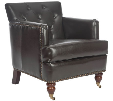 Linda Dano Tufted Club Chair w/ Bicast LeatherSeating