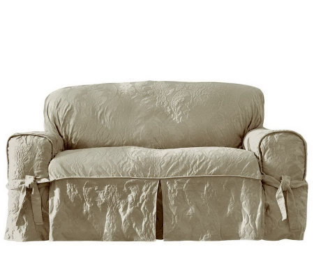 Captivating Sure Fit Matelasse Damask Sofa Slipcover