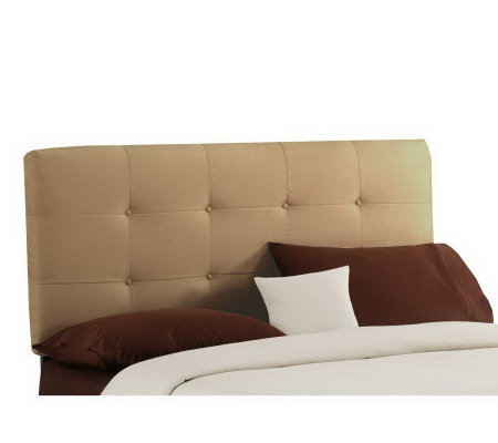 Skyline Furniture Ultrasuede Button Tufted Twinheadboard