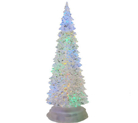 12 3 4 Led Color Changing Acrylic Christmas Tree By Sterling Qvc Com