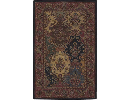 "Nourison 3'6"" x 5'6"" Classic Panel Design Handtufted Wool Rug"