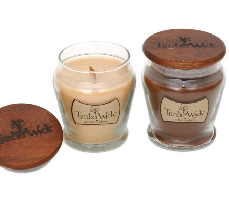 Set of 2 Timberwick Candles by Valerie