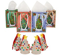 Mr. Christmas Set of 4 Mini Nostalgic Tree Ornaments with Gift Bags - H211624