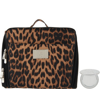 """""""As Is"""" Cosmetic Organizer Case with Compact Mirror - H219224. """""""