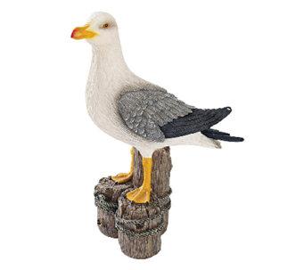 Design Toscano Beach and Dockside Seagull Statue - H284424