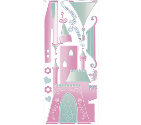 RoomMates Disney Princess Castle w/ Letters Wall Decal