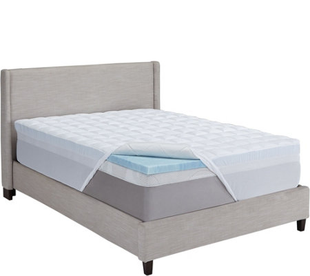 Comforpedic By Beautyrest Gel Mem Foam Fiber 5 5 Qn Topper