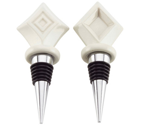 Ayesha Curry Barware Diamond Bottle Stopper Setof 2
