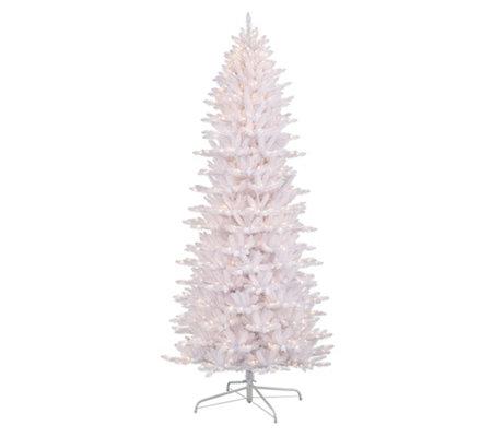 9 Artificial Christmas Tree.9 White Slim Fraser Fir Artificial Christmas Tree 800 Lights Qvc Com