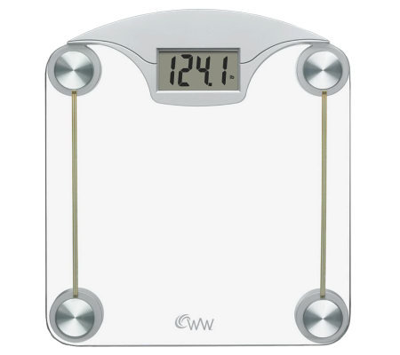 Conair WW39 Weight Watchers Digital Glass & Chrome Scale